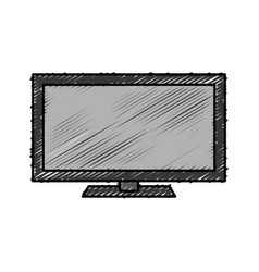 Modern television icon vector