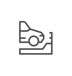 parking line icon vector image