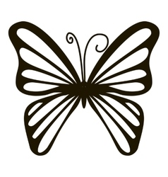 Rare butterfly icon simple style vector