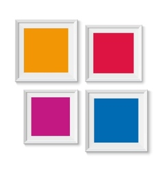 Realistic picture frames options banners vector image