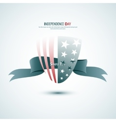 Ribbon Happy Independence Day card in vector image vector image