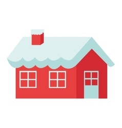Santa claus house icon vector
