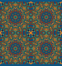 Seamless pattern doodle ornament colorful vector