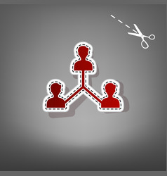 Social media marketing sign red icon with vector