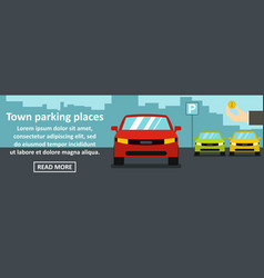 town parking places banner horizontal concept vector image vector image