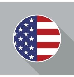 USA National Flag Flat Icon vector image