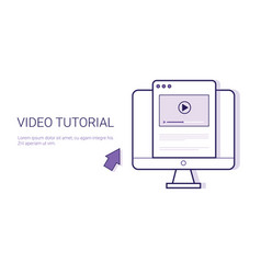 video tutorial online education business concept vector image vector image