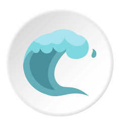 wave icon circle vector image