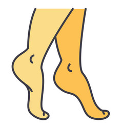Woman legs concept line icon editable vector