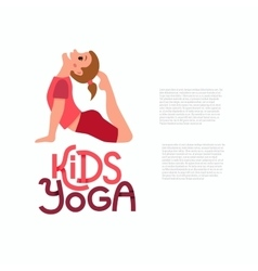 Yoga kids poses vector image vector image
