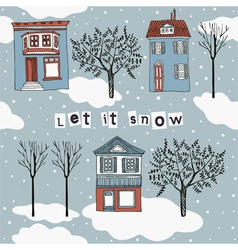 Let it snow card vector