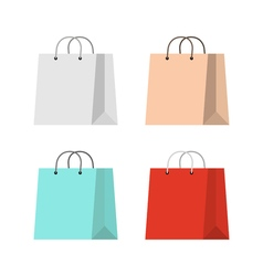 Shopping bag flat vector