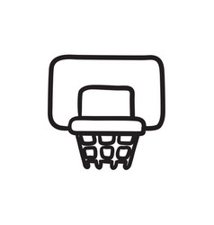 Basketball hoop sketch icon vector