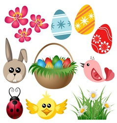 Easter symbol set vector image
