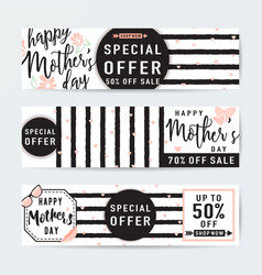 horizontal banner set for vector image