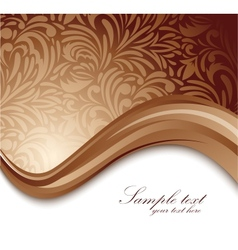 Abstract brown background vector image