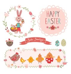 Easter graphic elements vector