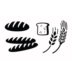 Bread icon vector