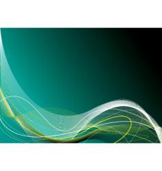 green tangle glow vector image