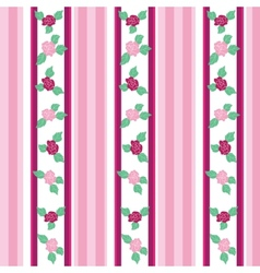 Floral pattern with roses on light background vector image