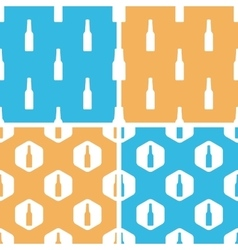 Bottle pattern set colored vector