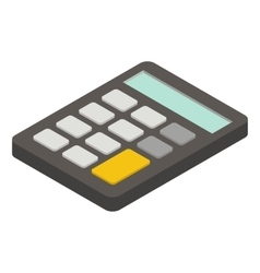 Calculator isometric icon vector