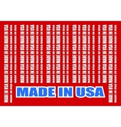Made in usa text and bar code from same words vector