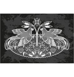 Card with a bird vector image