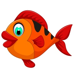 Funny cute fish cartoon for you design vector