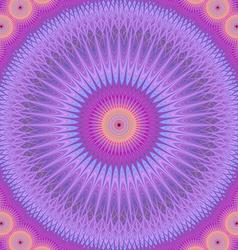 Abstract oriental mandala fractal design vector