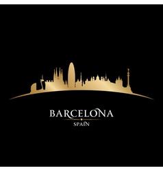 Barcelona spain city skyline silhouette vector