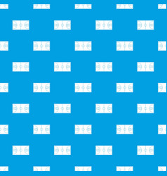 basketball field pattern seamless blue vector image