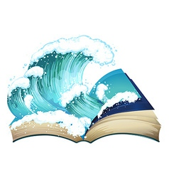 Book of wave vector image vector image