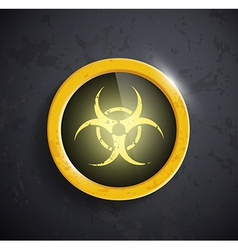 button with the biohazard symbol vector image