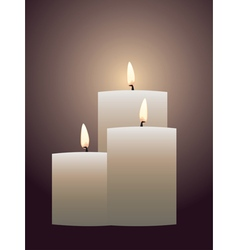 Candle with flame2 vector