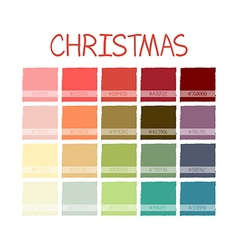 Christmas Colorful Color Tone with Code vector image vector image