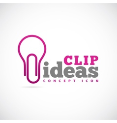 Clip Ideas Concept Symbol Icon or Logo Template vector image