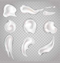 Cream smears and cosmetic blobs 3d vector