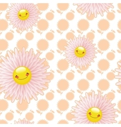 Flower glade of light pink flowers jolly vector