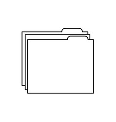 folder file document archive information vector image