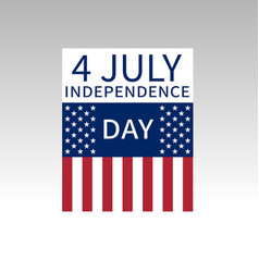 Fourth of july us independence day poster vector