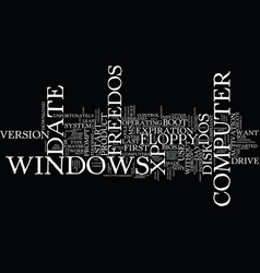 Freedos text background word cloud concept vector