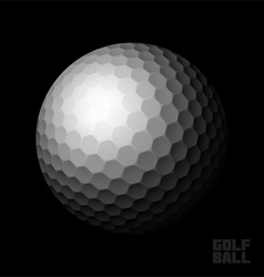 Golf ball on black vector image vector image