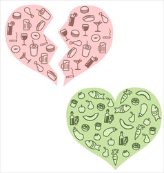 Heart health and habits vector