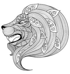 Lion coloring book vector