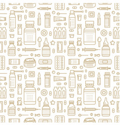 medical drugstore seamless pattern pharmacy vector image vector image