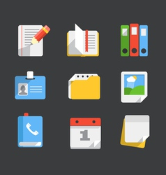 Modern web icons collection vector image vector image