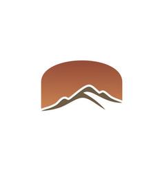 mountain abstract logo vector image