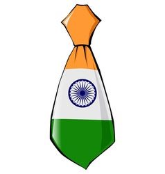 Necktie in national colours of india vector