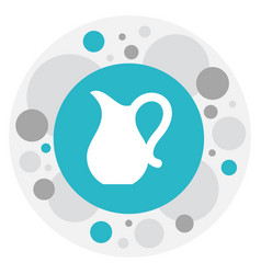 Of food symbol on pitcher icon vector
